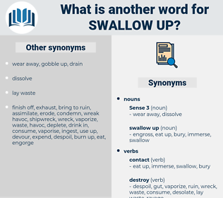 swallow up, synonym swallow up, another word for swallow up, words like swallow up, thesaurus swallow up