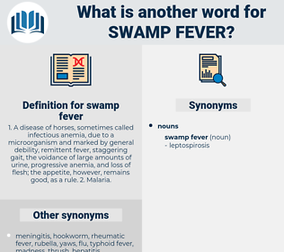 swamp fever, synonym swamp fever, another word for swamp fever, words like swamp fever, thesaurus swamp fever