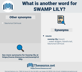 swamp lily, synonym swamp lily, another word for swamp lily, words like swamp lily, thesaurus swamp lily