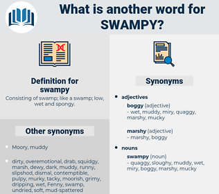 swampy, synonym swampy, another word for swampy, words like swampy, thesaurus swampy