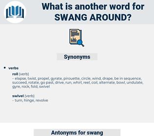 swang around, synonym swang around, another word for swang around, words like swang around, thesaurus swang around