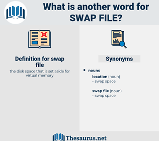 swap file, synonym swap file, another word for swap file, words like swap file, thesaurus swap file