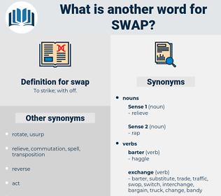 swap, synonym swap, another word for swap, words like swap, thesaurus swap