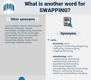 Swapping, synonym Swapping, another word for Swapping, words like Swapping, thesaurus Swapping