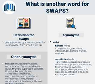 swaps, synonym swaps, another word for swaps, words like swaps, thesaurus swaps