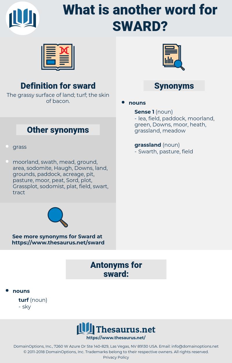 sward, synonym sward, another word for sward, words like sward, thesaurus sward