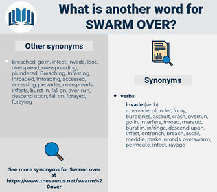 swarm over, synonym swarm over, another word for swarm over, words like swarm over, thesaurus swarm over