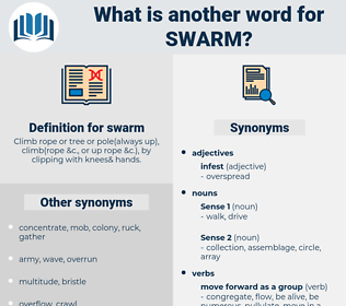 swarm, synonym swarm, another word for swarm, words like swarm, thesaurus swarm