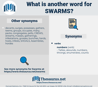 swarms, synonym swarms, another word for swarms, words like swarms, thesaurus swarms