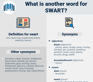 swart, synonym swart, another word for swart, words like swart, thesaurus swart