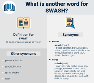swash, synonym swash, another word for swash, words like swash, thesaurus swash