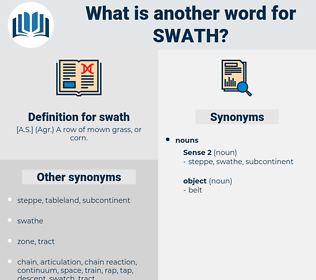 swath, synonym swath, another word for swath, words like swath, thesaurus swath