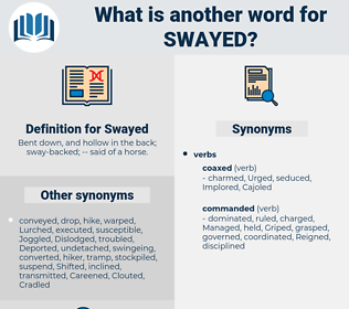 Swayed, synonym Swayed, another word for Swayed, words like Swayed, thesaurus Swayed