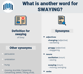 swaying, synonym swaying, another word for swaying, words like swaying, thesaurus swaying