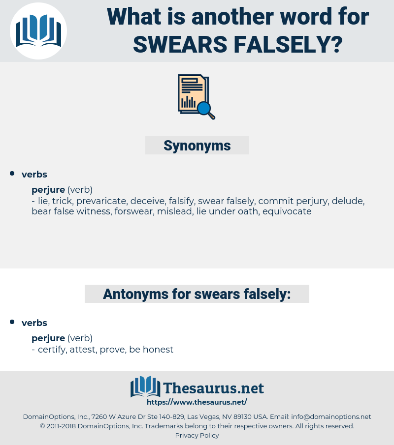 swears falsely, synonym swears falsely, another word for swears falsely, words like swears falsely, thesaurus swears falsely