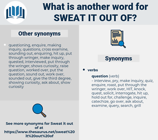 sweat it out of, synonym sweat it out of, another word for sweat it out of, words like sweat it out of, thesaurus sweat it out of
