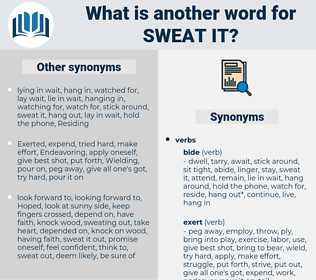 sweat it, synonym sweat it, another word for sweat it, words like sweat it, thesaurus sweat it