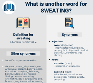 sweating, synonym sweating, another word for sweating, words like sweating, thesaurus sweating