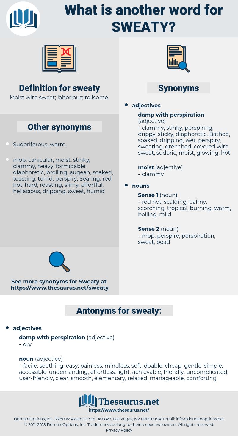 sweaty, synonym sweaty, another word for sweaty, words like sweaty, thesaurus sweaty