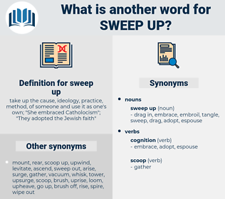 sweep up, synonym sweep up, another word for sweep up, words like sweep up, thesaurus sweep up