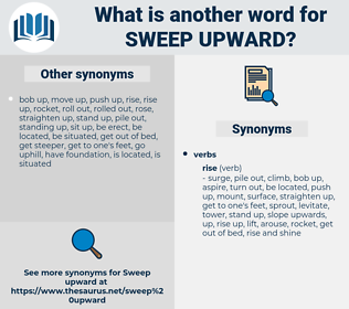sweep upward, synonym sweep upward, another word for sweep upward, words like sweep upward, thesaurus sweep upward