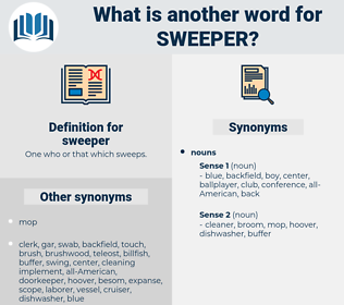 sweeper, synonym sweeper, another word for sweeper, words like sweeper, thesaurus sweeper