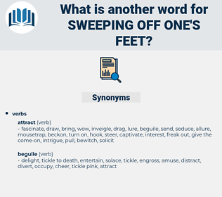 sweeping off one's feet, synonym sweeping off one's feet, another word for sweeping off one's feet, words like sweeping off one's feet, thesaurus sweeping off one's feet
