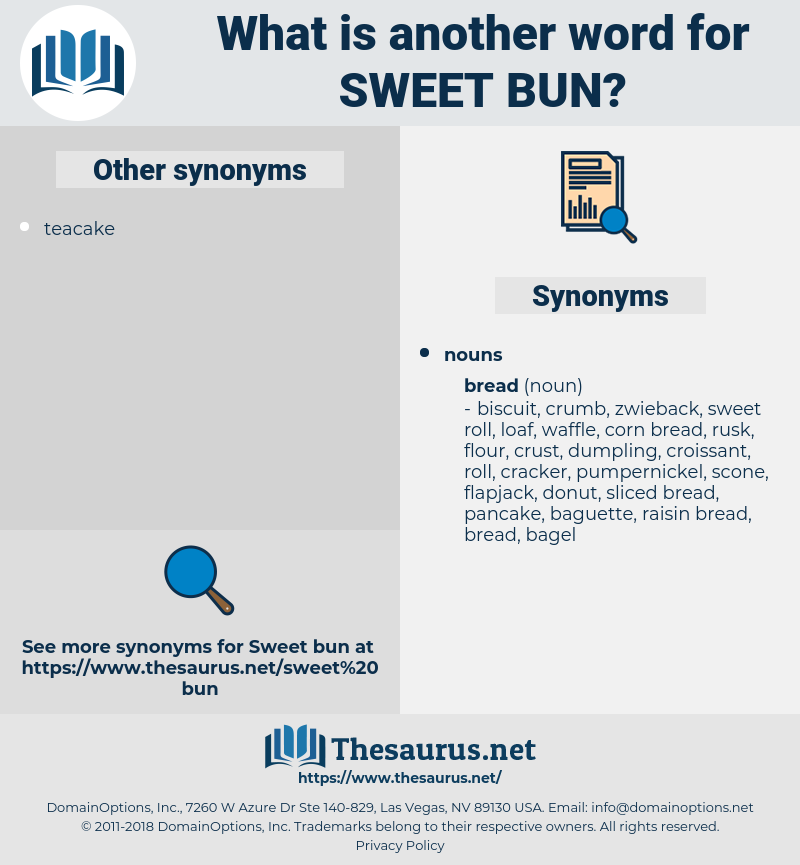 sweet bun, synonym sweet bun, another word for sweet bun, words like sweet bun, thesaurus sweet bun