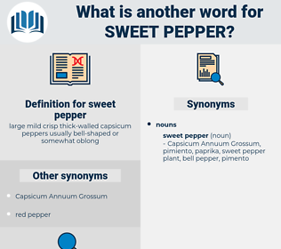 sweet pepper, synonym sweet pepper, another word for sweet pepper, words like sweet pepper, thesaurus sweet pepper