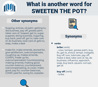sweeten the pot, synonym sweeten the pot, another word for sweeten the pot, words like sweeten the pot, thesaurus sweeten the pot