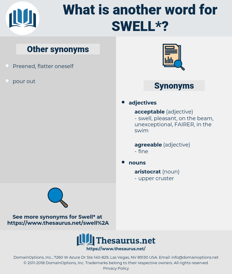 swell, synonym swell, another word for swell, words like swell, thesaurus swell