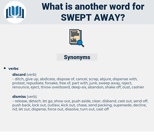 swept away, synonym swept away, another word for swept away, words like swept away, thesaurus swept away