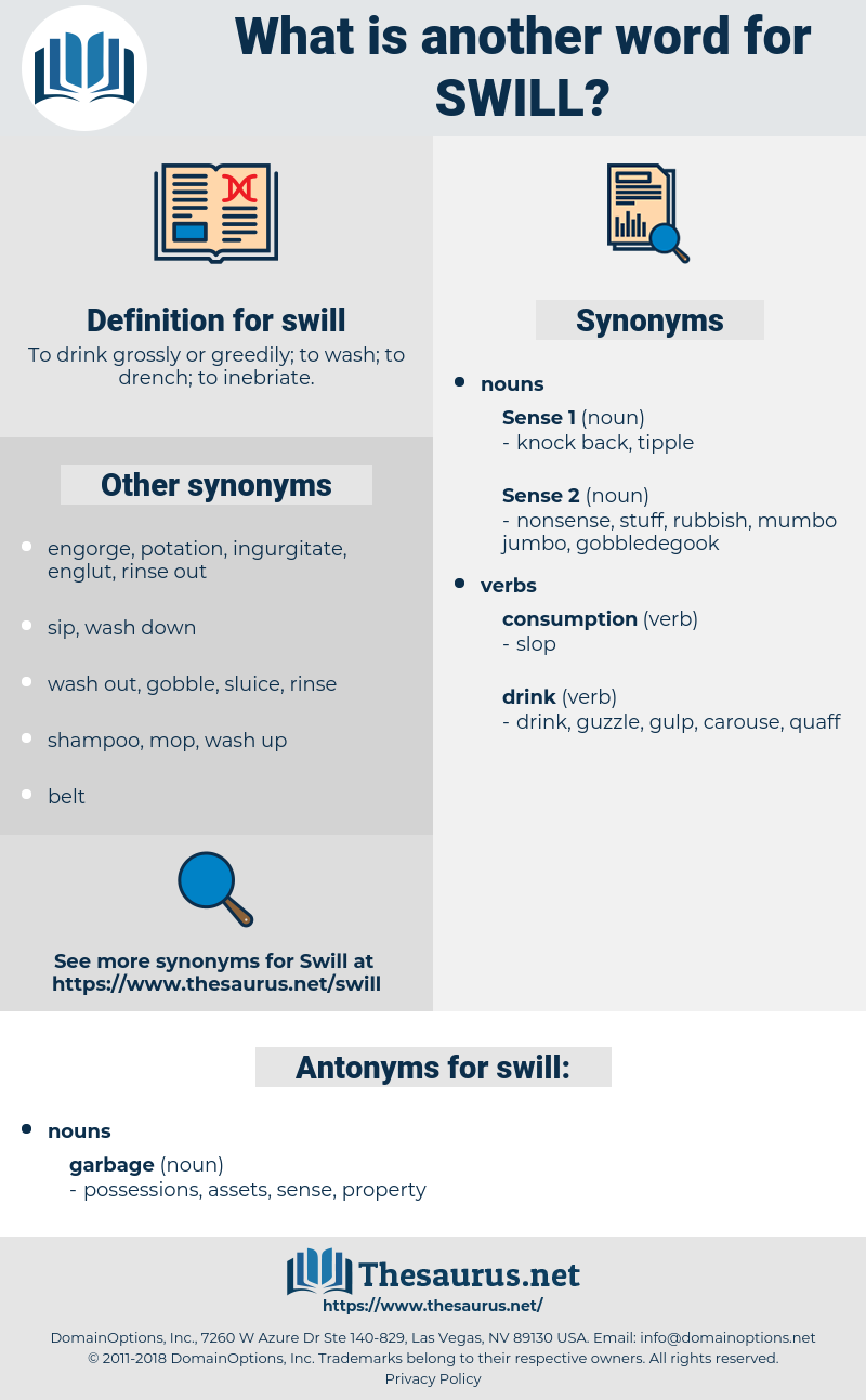 swill, synonym swill, another word for swill, words like swill, thesaurus swill