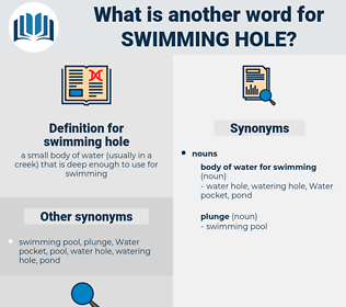swimming hole, synonym swimming hole, another word for swimming hole, words like swimming hole, thesaurus swimming hole