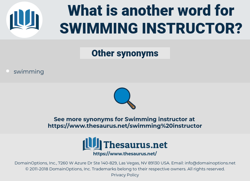 swimming instructor, synonym swimming instructor, another word for swimming instructor, words like swimming instructor, thesaurus swimming instructor