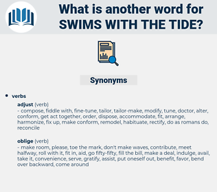 swims with the tide, synonym swims with the tide, another word for swims with the tide, words like swims with the tide, thesaurus swims with the tide
