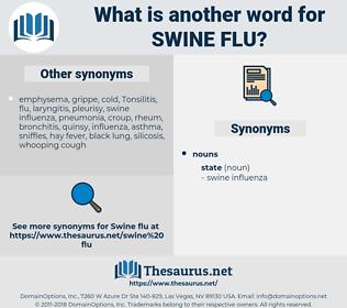 swine flu, synonym swine flu, another word for swine flu, words like swine flu, thesaurus swine flu