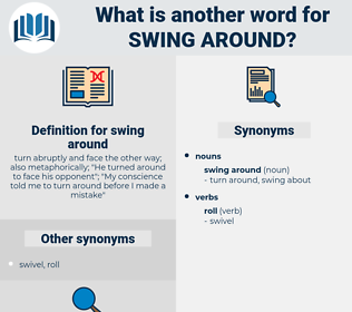 swing around, synonym swing around, another word for swing around, words like swing around, thesaurus swing around