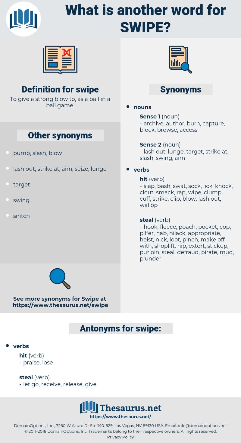 swipe, synonym swipe, another word for swipe, words like swipe, thesaurus swipe
