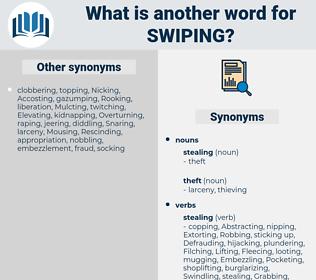 Swiping, synonym Swiping, another word for Swiping, words like Swiping, thesaurus Swiping