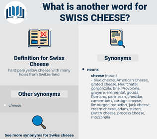 Swiss Cheese, synonym Swiss Cheese, another word for Swiss Cheese, words like Swiss Cheese, thesaurus Swiss Cheese
