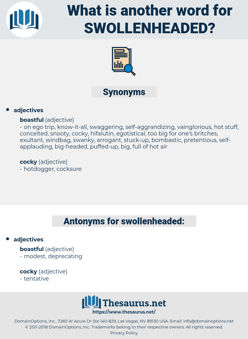swollenheaded, synonym swollenheaded, another word for swollenheaded, words like swollenheaded, thesaurus swollenheaded