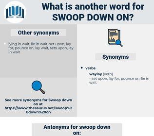 swoop down on, synonym swoop down on, another word for swoop down on, words like swoop down on, thesaurus swoop down on