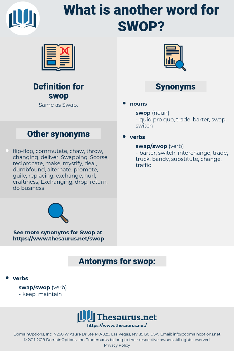 swop, synonym swop, another word for swop, words like swop, thesaurus swop