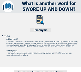 swore up and down, synonym swore up and down, another word for swore up and down, words like swore up and down, thesaurus swore up and down