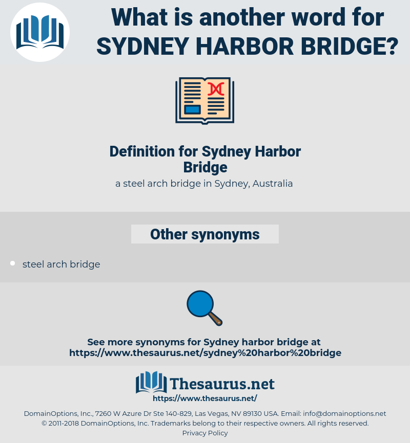 Sydney Harbor Bridge, synonym Sydney Harbor Bridge, another word for Sydney Harbor Bridge, words like Sydney Harbor Bridge, thesaurus Sydney Harbor Bridge