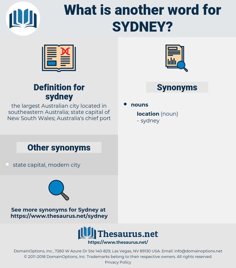 sydney, synonym sydney, another word for sydney, words like sydney, thesaurus sydney