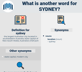 sydney, synonym sydney, another word for sydney, words like sydney, thesaurus sydney