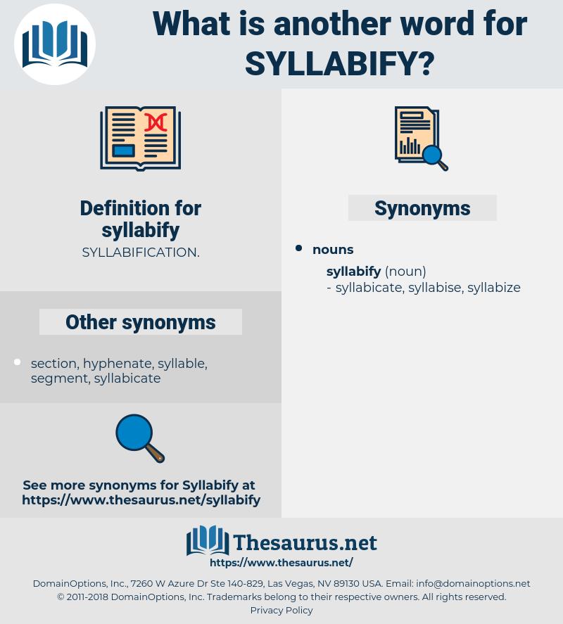 syllabify, synonym syllabify, another word for syllabify, words like syllabify, thesaurus syllabify