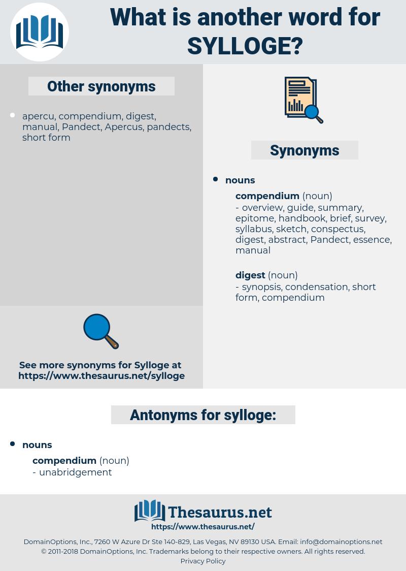 sylloge, synonym sylloge, another word for sylloge, words like sylloge, thesaurus sylloge